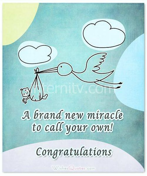 A brand new miracle to call your own! Congratulations. Newborn Baby Card