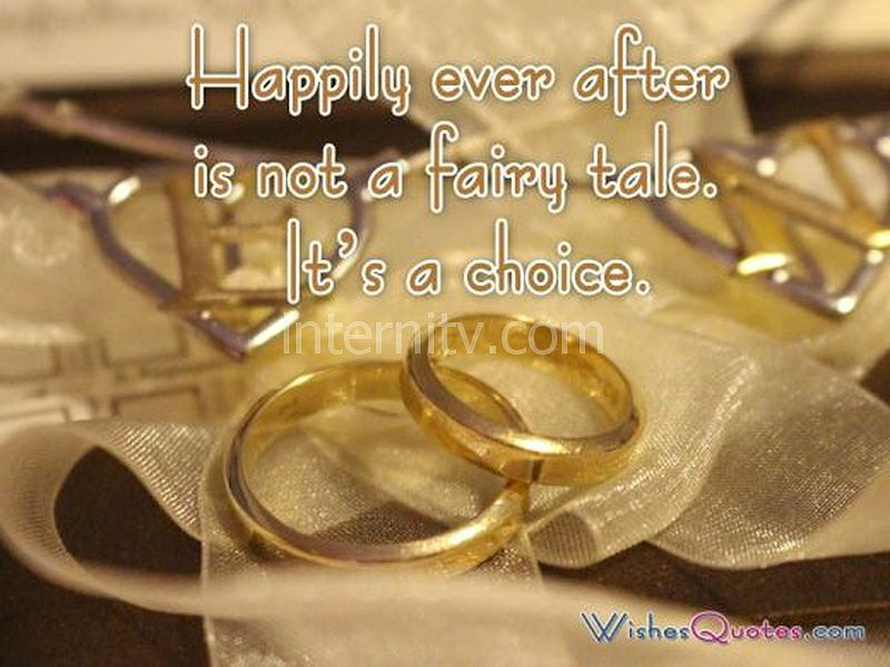 A wedding quote about happy marriage