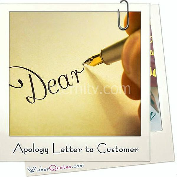 Apology letter to customer featured