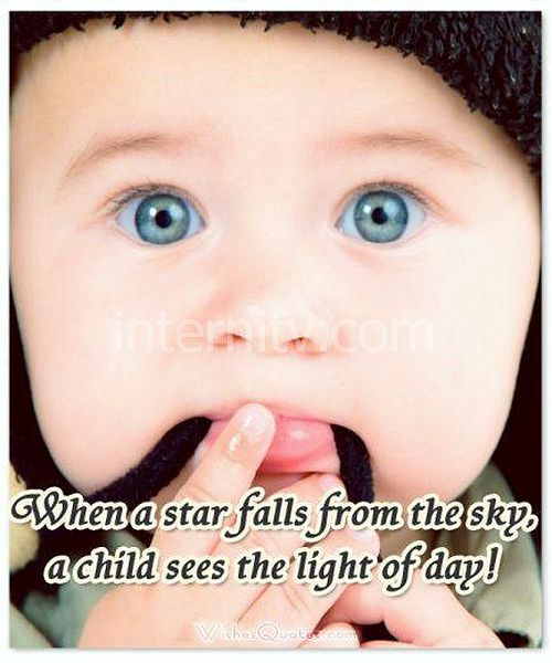 star-falls-baby-quote. Inspirational Newborn Baby Quote