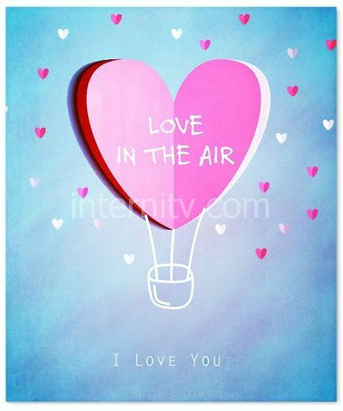Love is in the air. I love you Card - Valentine