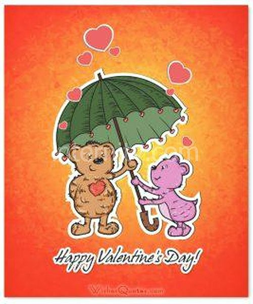 Valentines day card cute animals